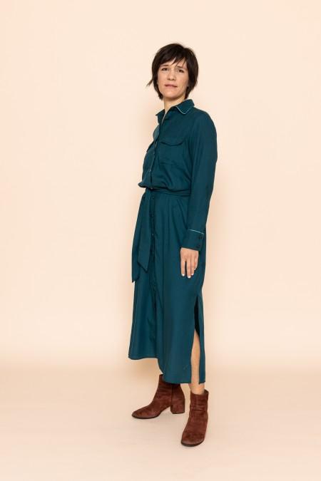 Long belted Dress Colvert...
