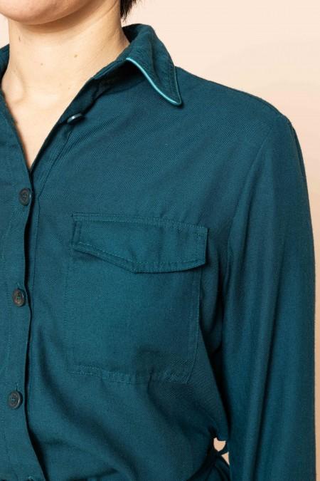 Long belted Dress Colvert Green