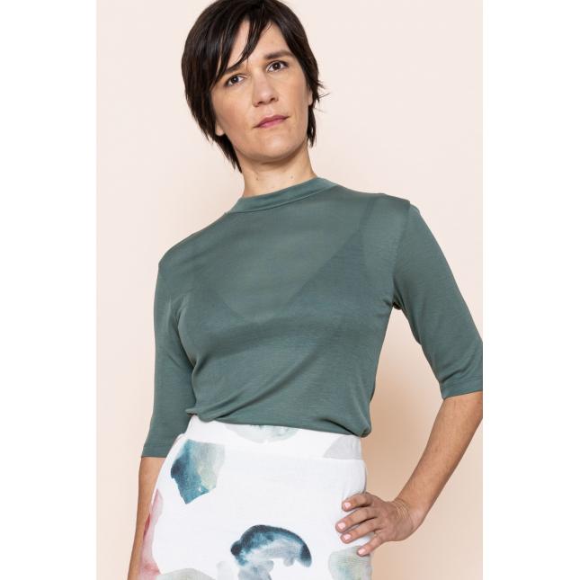 T-Shirt Nina Rib Dark Mint