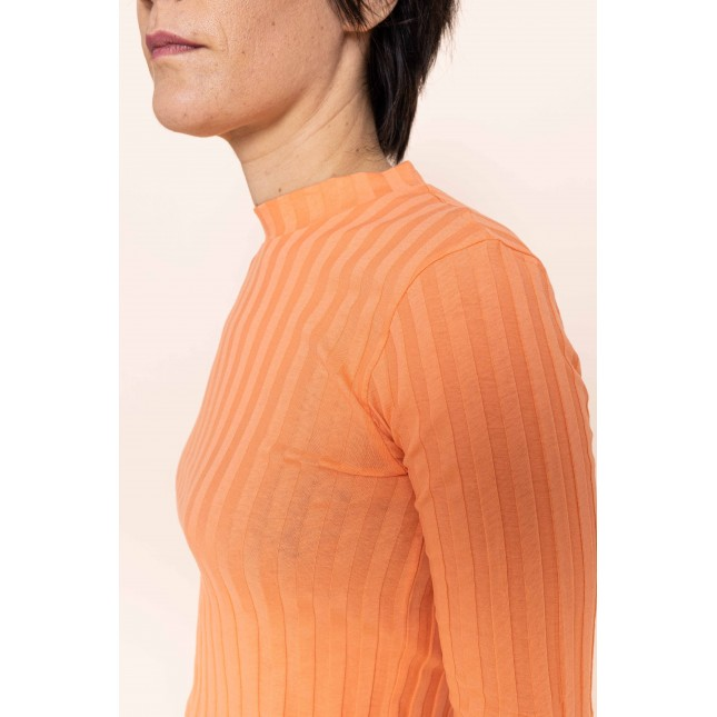 Nina Rib T-shirt Papaya