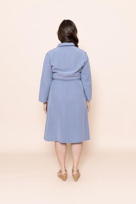 Hemdbluser-Kleid Light Blue
