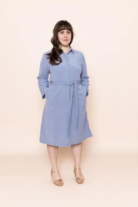 Shirt Dress Light Blue