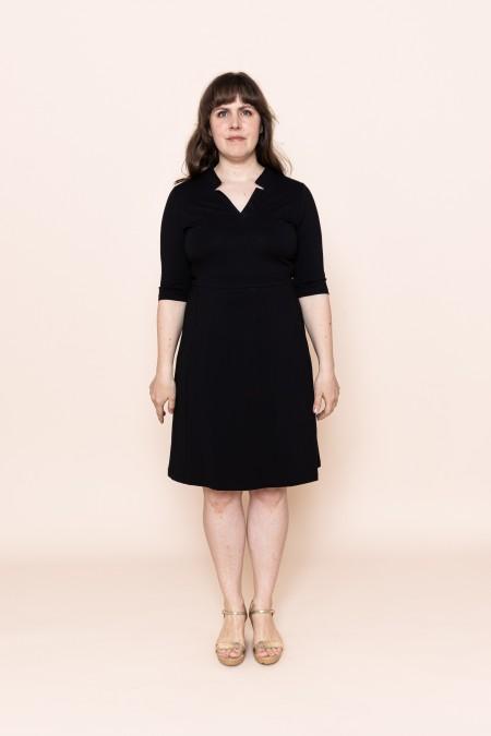 V-Black Dress