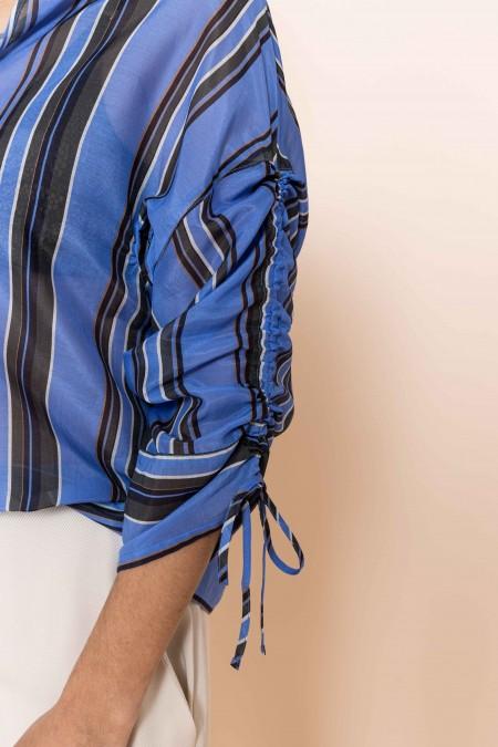 Stripe Blouse Blue