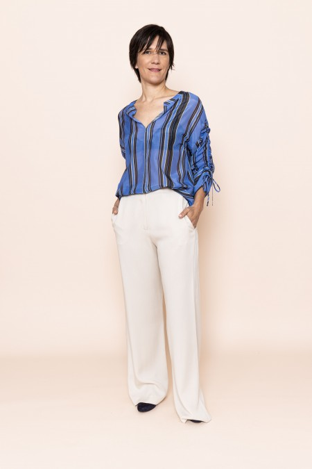Bluse Stripe Blue
