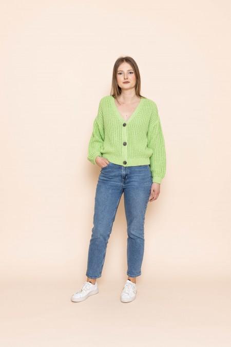 Knit Jacket lena Greenery
