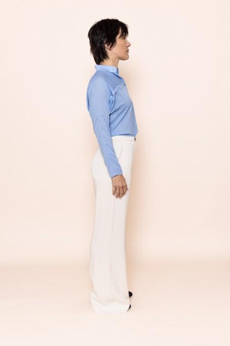 Lines Shirt Sky Blue