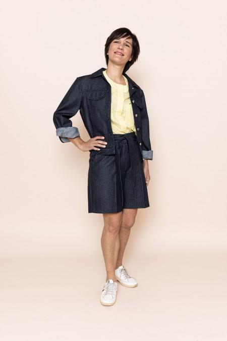 Boxy Jacket Blue Jean