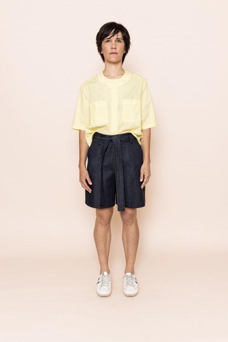 Belted Short Blue Jean
