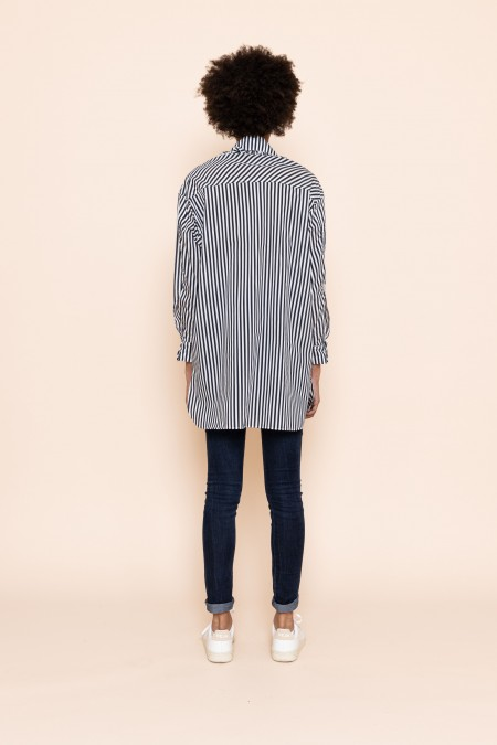 Renee Shirt Blue Stripe
