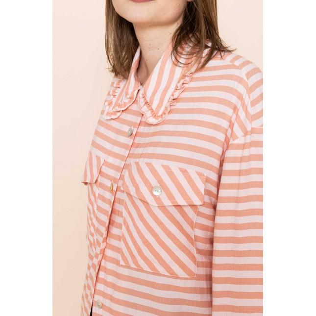 Renee Shirt Pink Stripe