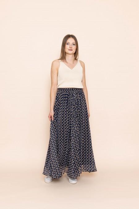 Jane Skirt Navy Blue