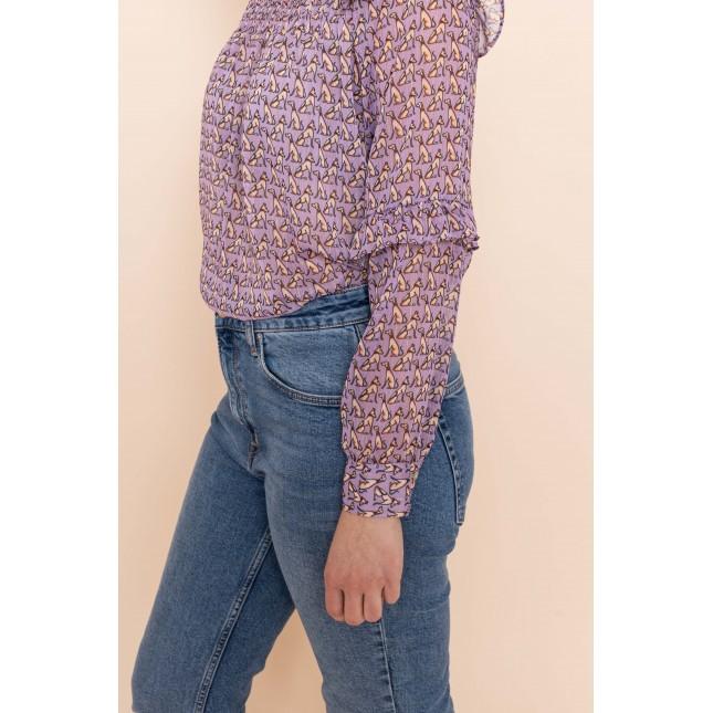 JACKY blouse dog purple