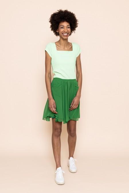 Karo Skirt Green