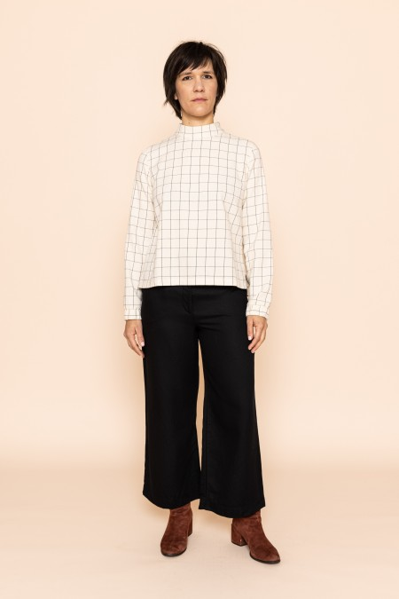 Flanell Blouse Square White