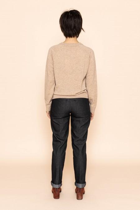 Round Neck Sweater Natural