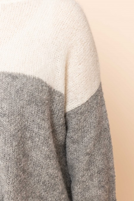 Pullover with Structure Bicolor