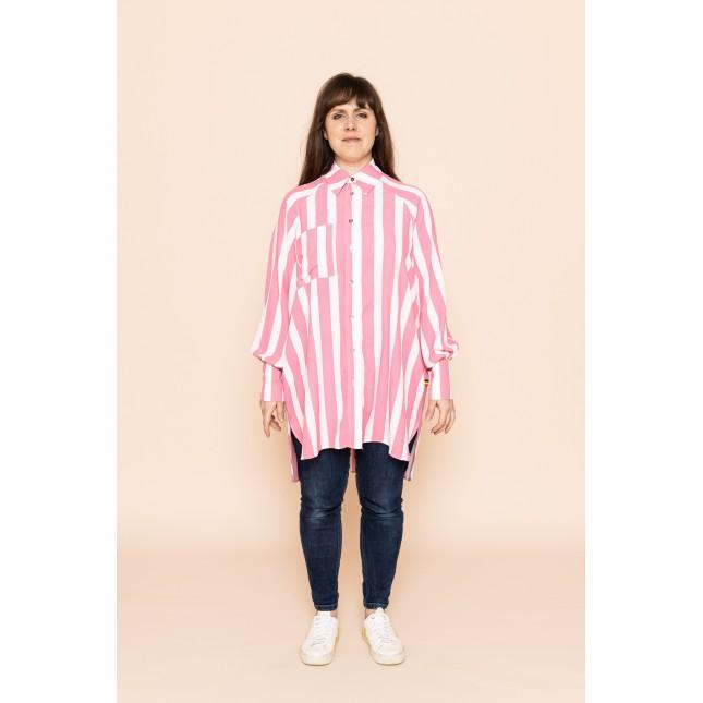 JANICE shirt pink stripe