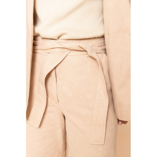 Belted Pants Spotted Pink