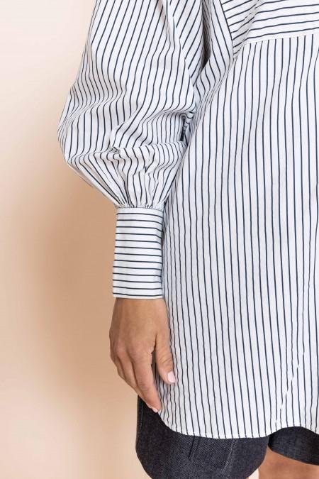 Fran Shirt Navy Stripes