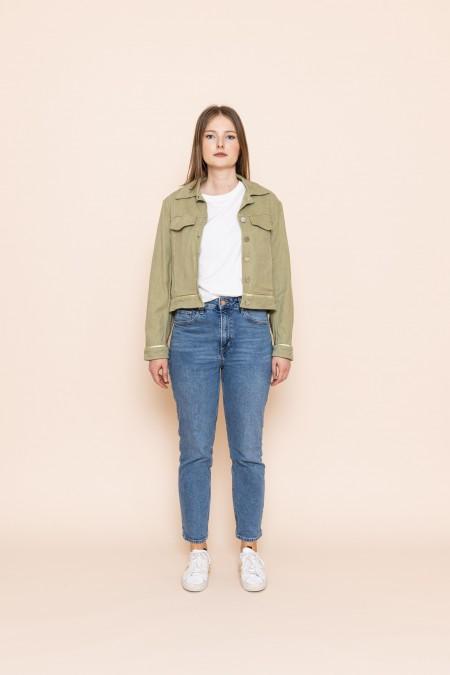Velvet Boxy Jacket Pistachio
