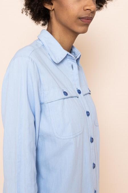 Mid Long boyfriend dress skye blue
