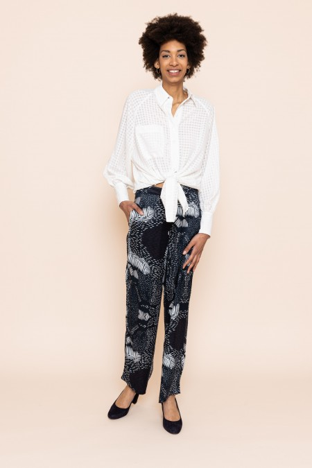 Fran Shirt - White Square