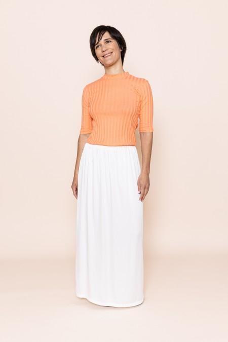 Bamboo Silk Skirt (White)