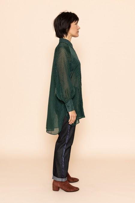 FRAN plumetis vert
