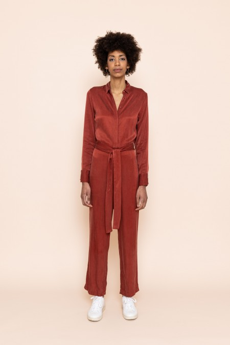 Communicate Jumpsuit (Red)