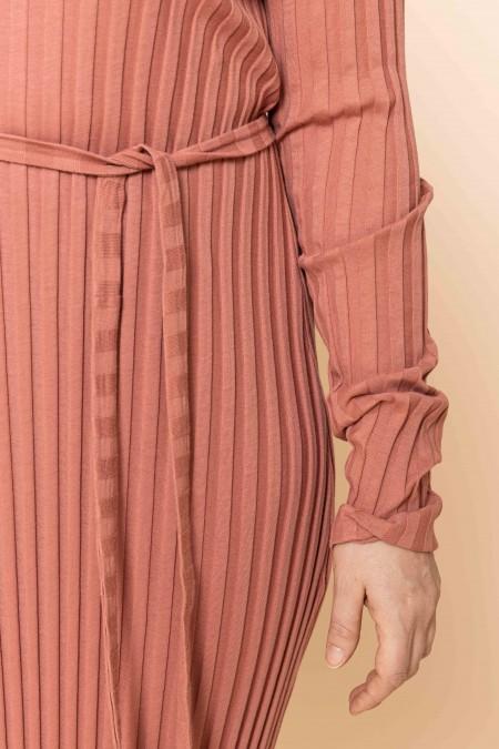 Wide-rib long dress
