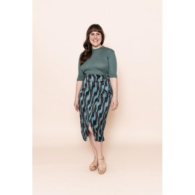 Lense art sea green skirt