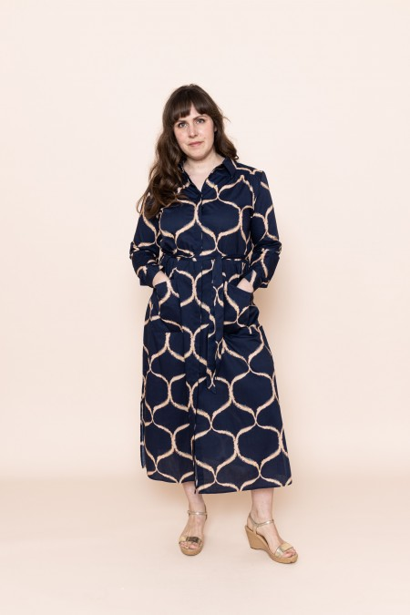 Hemdbluser-Kleid Orient...