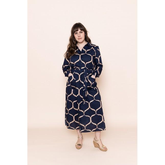 Hemdbluser-Kleid Orient Navy Blue