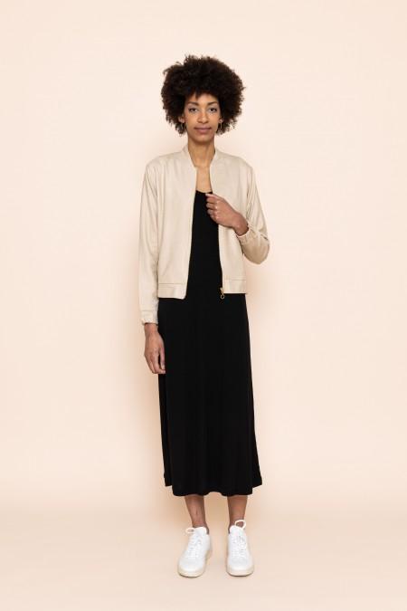 Midi Dress Triangle Flow Black
