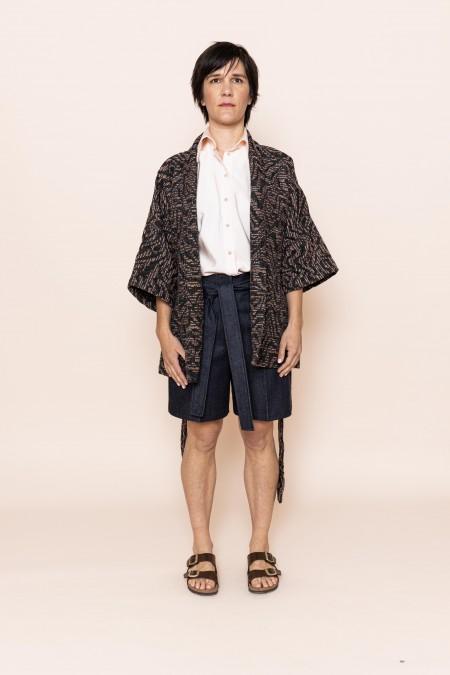 EVORA Kimono Gris Chiné