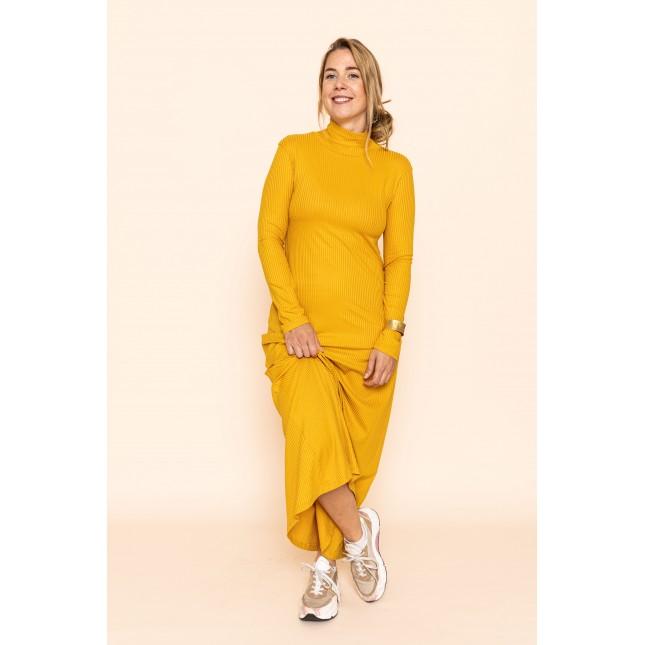 Dress Rory Rib Mustard