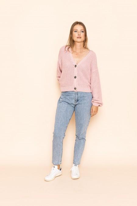 Knit Jacket Lena Faded Pink