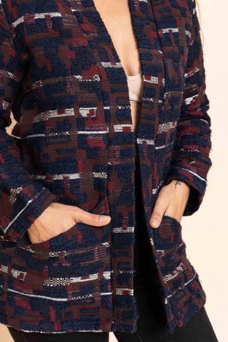 Gilet Kimono Indigo