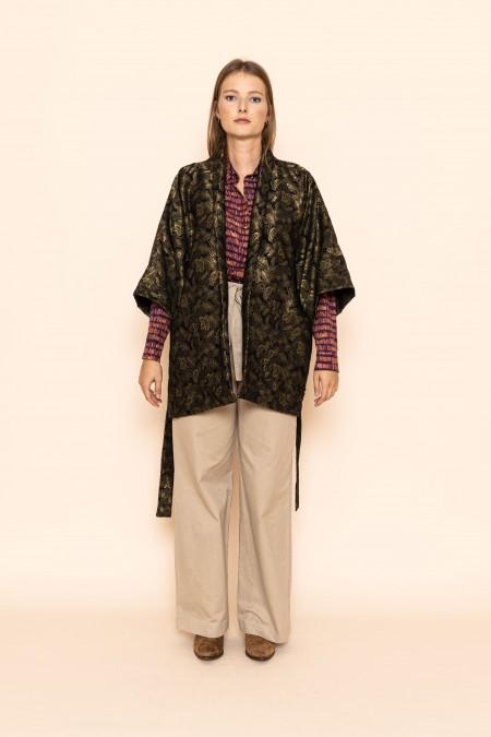 Evora Kimono Black/Gold