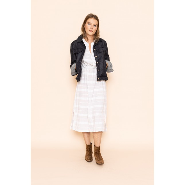 Jacquard Dress with stripes