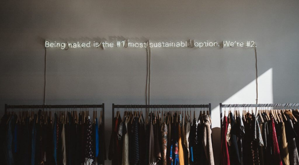 Being naked is the #1 most sustainable option. We're #2